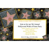 Walk of Fame Personalized Invitations